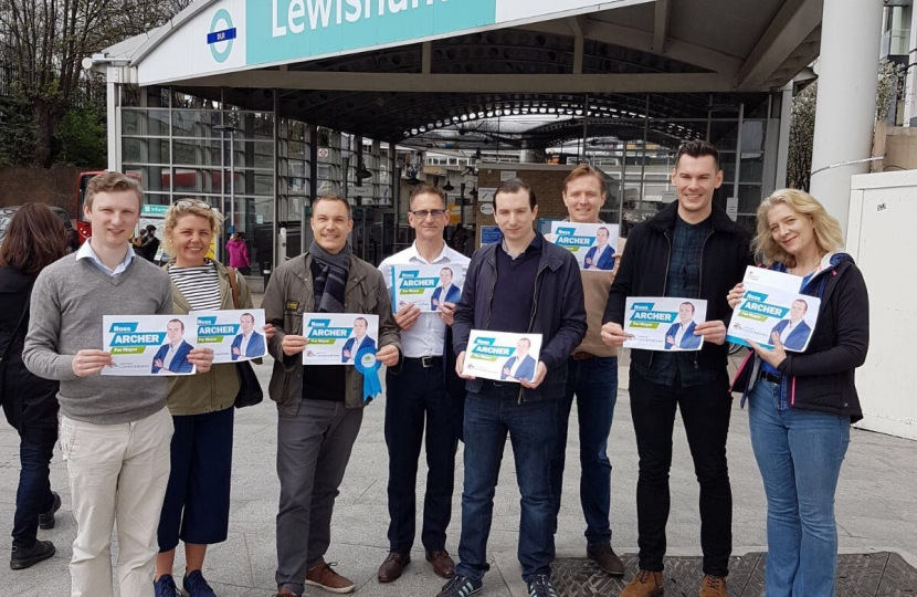 Ross Archer Campaigning in Lewisham