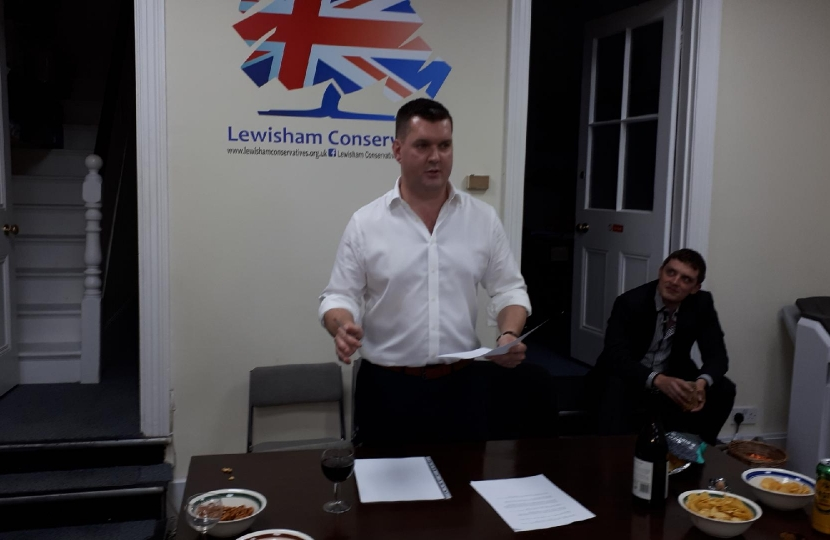 Andy Chairing the Lewisham Conservatives Brexit Debate