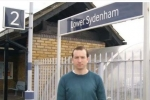 Ross Archer at Lower Sydenham station, which is currently in Zone 4.